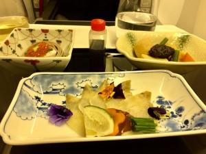 Japanische Köstlichkeiten im ANA-Flieger